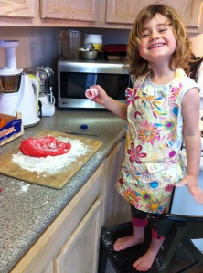 The joys of home made play-dough!!
